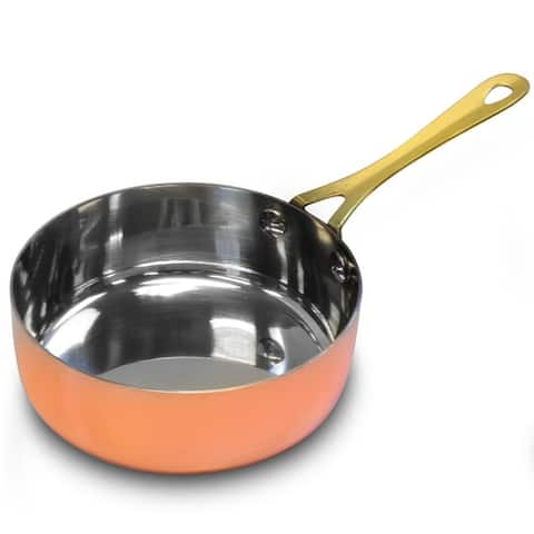Gibson Home Rembrandt 4.7 Inch Stainless Steel Mini Frying Pan, Copper Plated