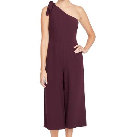 Rachel Rachel Roy Women's Jumpsuit Merlot Purple Size 2 One Shoulder