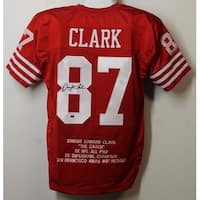 Dwight Clark Autographed San Francisco 49ers Size XL Red Jersey Name Only GTSM