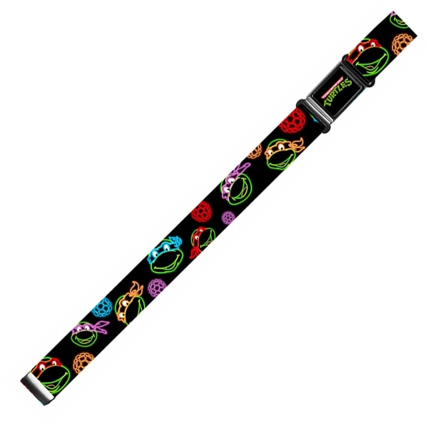 Classic Tmnt Logo Full Color Classic Tmnt Electric Expressions Turtle Magnetic Web Belt - S