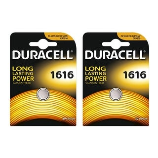 Battery for Duracell DLCR1616 (2-Pack) Replacement Battery