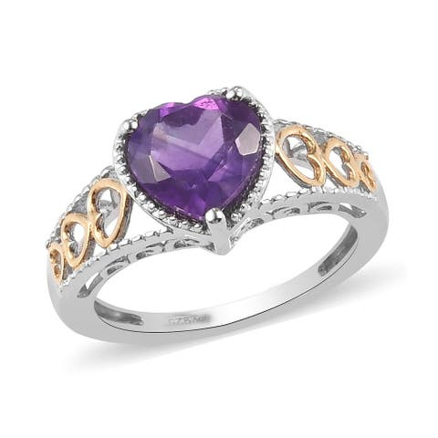 Shop LC 925 Silver Amethyst Ring Jewelry Gift Ct 1.5