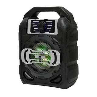 Naxa NDS-4000SL 4 in. Bluetooth Portable Party Speaker with LED Lights