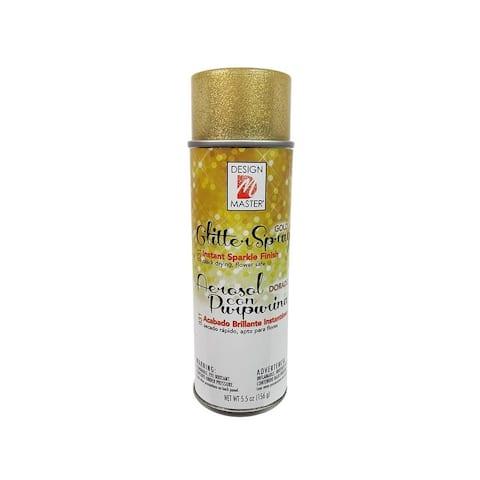 Dm831 design master glitter spray 5 5oz gold