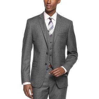 Calvin Klein X Extreme Slim Fit Grey Wool Flannel Blazer Sportcoat 40 Long 40L