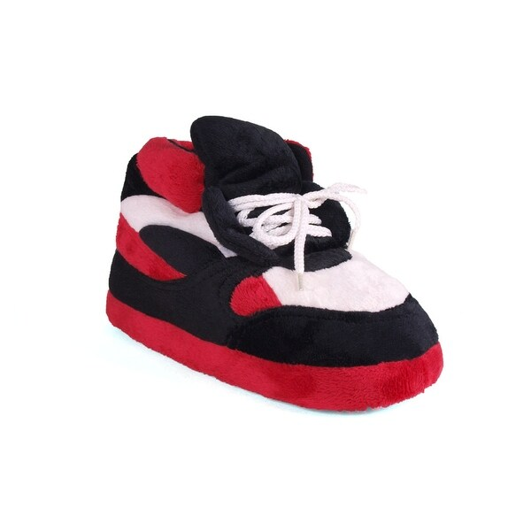 Happy Feet - Red, Black and White - Slippers - red black and white