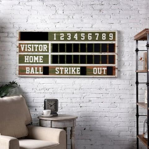 StyleCraft Wooden Scoreboard Wall Décor