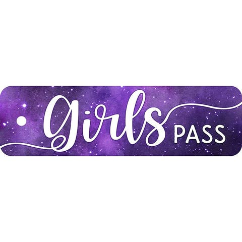Tnt plastic hall pass galxy script girl 10169