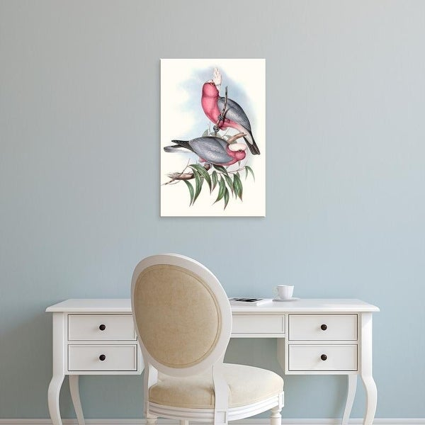 Easy Art Prints John Gould's 'Pastel Parrots III' Premium Canvas Art
