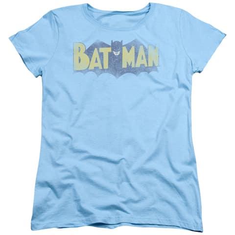 Batman Vintage Logo Womens Short Sleeve Shirt
