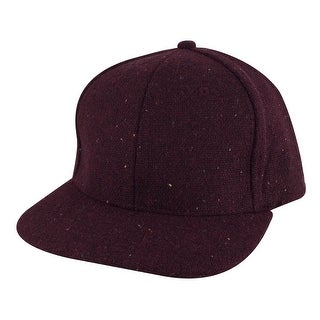 Stylish Flat Brim Wool Confetti Sparkle Adjustable Snapback Hat Cap by CapRobot - Burgundy