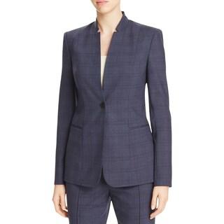 Elie Tahari Womens Tory One-Button Blazer Knit Pattern