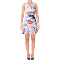 3aadf689566 Shop Betsey Johnson Floral Jacquard V-Neck Fit   Flare Cocktail Day ...