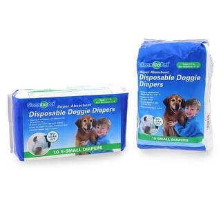 Clean Go Pet Disposable Doggie Diapers - X-Small