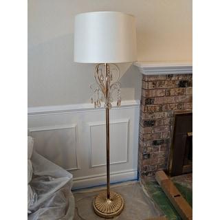 Shop 62 amoruccio crystal gold floor lamp on sale free shipping 62quot amoruccio crystal gold floor lamp aloadofball Image collections