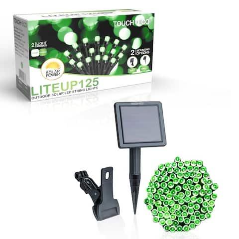 Solar Powered 125 LED String Light - Green