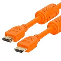 28 AWG High Speed HDMI Cable With Ferrite Cores - 3 Feet Orange