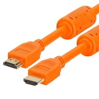 28 AWG High Speed HDMI Cable With Ferrite Cores - 6 Feet Orange