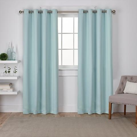 Porch & Den Boosalis Sateen Twill Weave Insulated Blackout Window Curtain Panel Pair