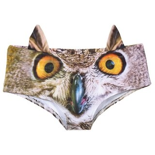 What On Earth Women's 3D Animal Face Underwear with Ears - Hipster Briefs - One size