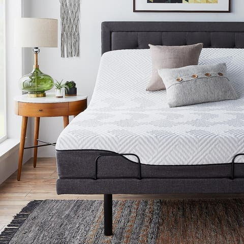 12-inch Hybrid Mattress and L300 Adjustable Bed Set by LUCID Comfort Collection