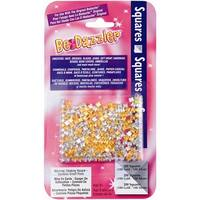 Be Dazzler Stud Refill 200/Pkg-Squares - Gold & Silver