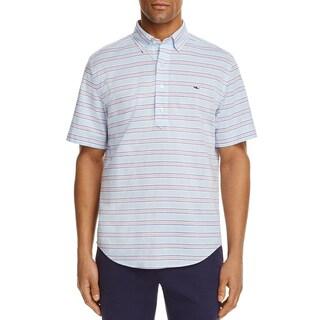 Vineyard Vines Mens Steel Point Stripe Casual Shirt Cotton Striped - XXL