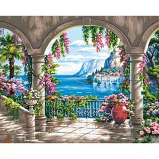 """Floral Patio - Paint Works Paint By Number Kit 16""""X20"""""""