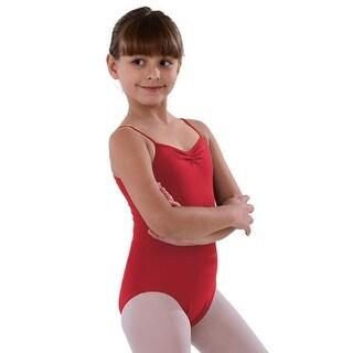 So Danca Red Pinched Neckline Dance Leotard Little Girls 2-14
