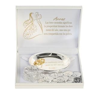 Angels Garment Silver Glamorous Shiny Holder Coins Wedding Arras