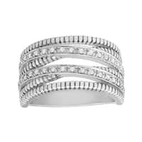 1/6 ct Diamond Banded Ring in Sterling Silver