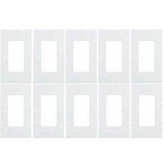 Leviton 80301-SW 1-Gang Decora Plus Wallplate Screwless Snap-On Mount (10 Pack) - White