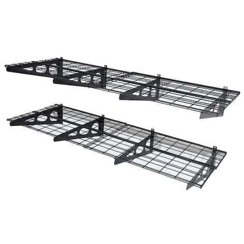 2x6ft Wall Shelf Garage Storage Rack Floating Shelves Set of 2