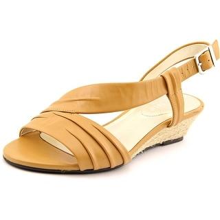 David Tate Caress SS Open-Toe Leather Slingback Sandal