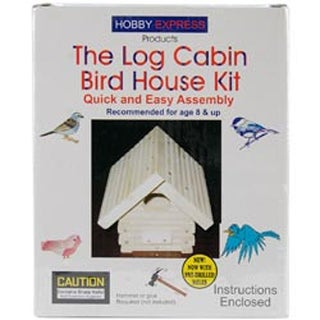 Log Cabin Bird House - Unfinished Wood Kit