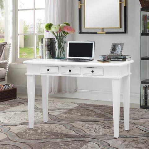 Modern Home Bedroom Makeup Table Office Computer Study Writing Desk with 3 Drawers