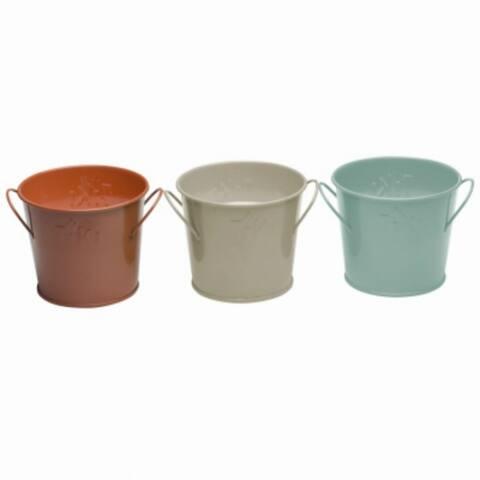 Tiki 1417041 Seaside Escape Mini Citronella Wax Bucket Candle, Assorted, 4 Oz