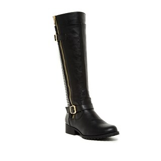 Steve Madden NEW Black Women's Shoes Size 6.5M Quincy Knee-High Boot