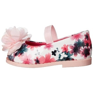 Rugged Bear Girls RB24607 Bungee Mary Jane Flats, Pink Floral, Size 5Toddler US - 5toddler us
