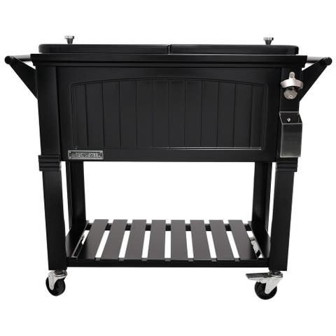 Permasteel 80 Quart Furniture Style Patio Cooler
