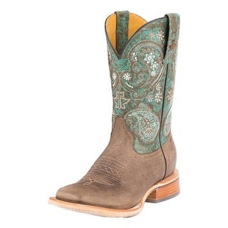 Tin Haul Western Boots Women Ban-Dan-Uh Brown