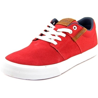 Supra Stacks Vulc II Men Round Toe Suede Red Skate Shoe