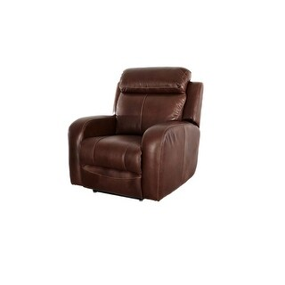 Ashanti Colton Water BUFFALO Genuine Full Aniline Leather Incliner Chair - Mid Brown