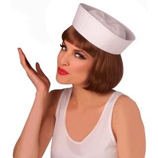 White Sailor Adult Costume Hat