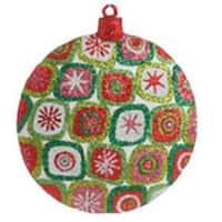 """4"""" Christmas Brites Vibrant Star Glittered Disk Ornament"""