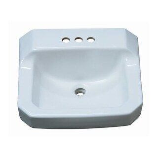 "ProFlo PF5414 19-7/8"" Wall Mounted Rectangular Bathroom Sink - 3 Holes Drilled"