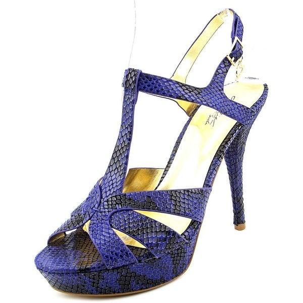 Thalia Sodi Raquell Women Blue Snake Sandals