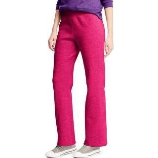 Hanes ComfortSoft ; EcoSmart® Women's Open Leg Fleece Sweatpants - Size - M - Color - Sizzling Pink