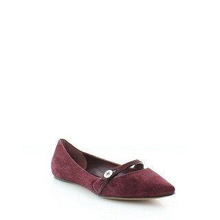 Marc Jacobs Karlie Pointy Button Ballet Flats Shoes