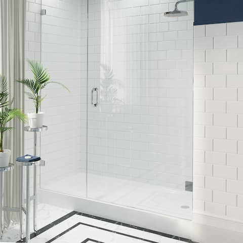 """Voltaire 60"""" x 34"""" Acrylic White, Single-Threshold, Right Side Drain, Shower Base"""